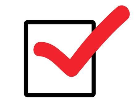 Check box red