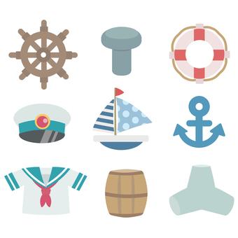 Summer / Sea Marin series icon assortment