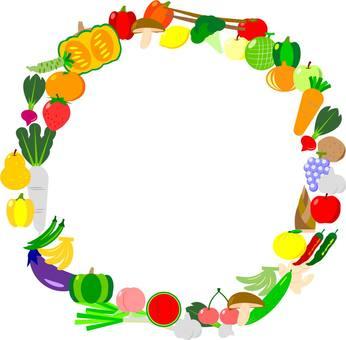 Fruit vegetable circle