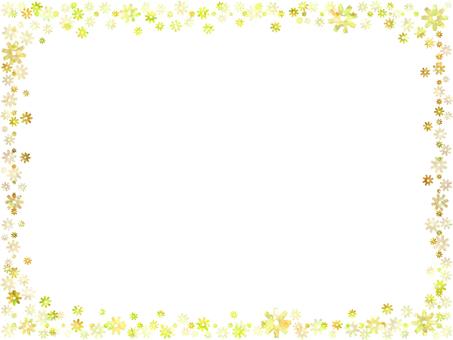 Flower frame 1 (yellow)