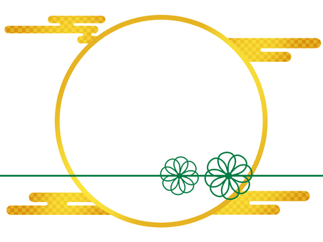 Round Japanese Style Gold