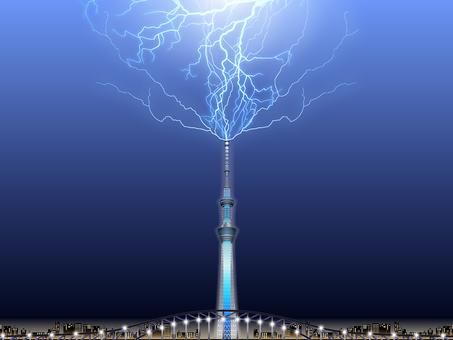 ai Sky tree that thunder falls · Background frame