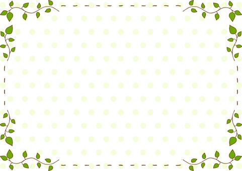 Leaf stitch frame dot background