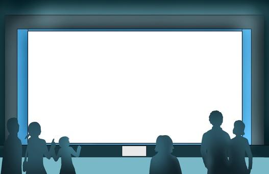 Aquarium framework with audience