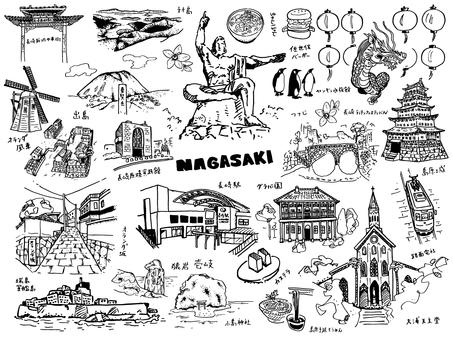 長崎シルエット イラストの無料ダウンロードサイトシルエットac