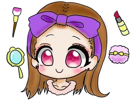 Makeup girl illustration
