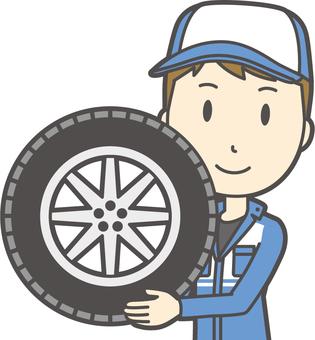 Male mechanic-076-bust