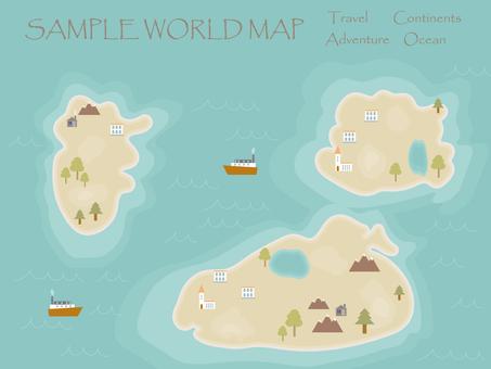 World map cartoon style template