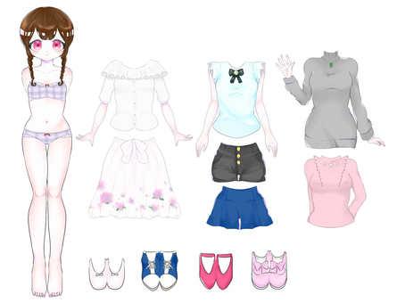 穿著娃娃女孩Mitsu Ami