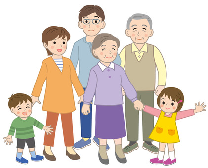 Three generations family