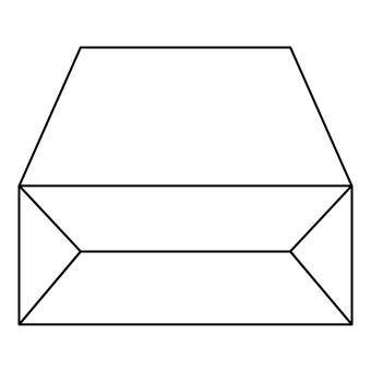 The side of the box (the bottom of the box)