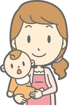 Pregnant woman a - hug - bust