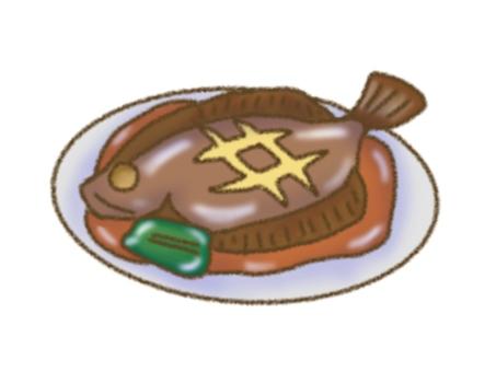 Stewed flounder