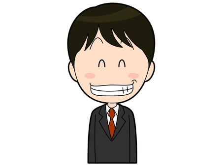 Male office worker in a smiling suit _003