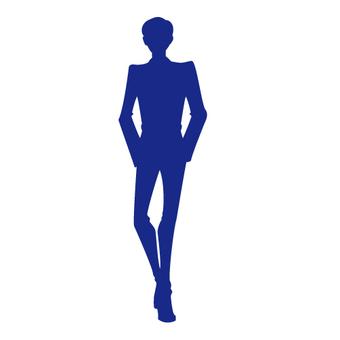 Male model silhouette 1