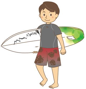 Summer surfer men