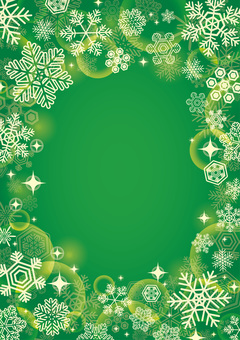 Christmas snow background green