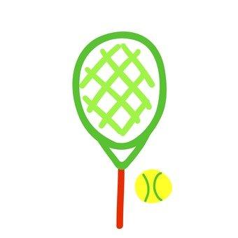 球拍和網球