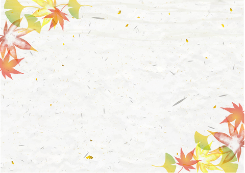 Background materials that may be used in autumn Japanese style autumn leaves