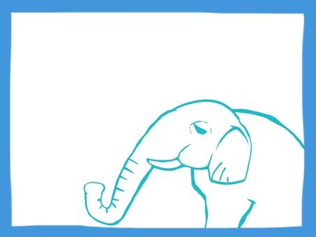 Animal frame elephant