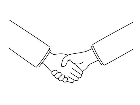Handshake (line drawing)