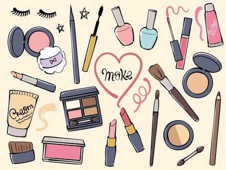 Handwritten cosmetics set