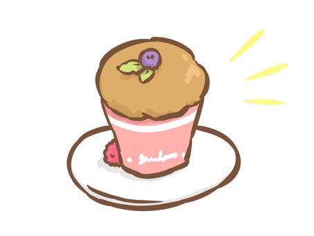 간단한 컵 케이크