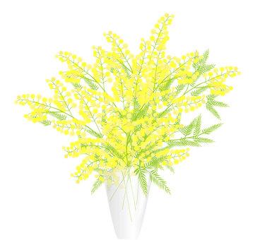 花瓶のミモザ
