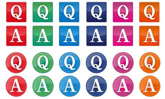 Frequently asked questions Q & A icon