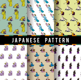 Ukiyo-e pattern 12