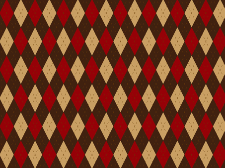 Large Argyle check brown red
