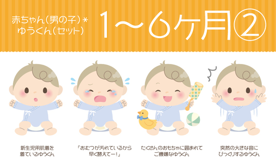 Baby (man) * 1 to 6 months ② 【Set】