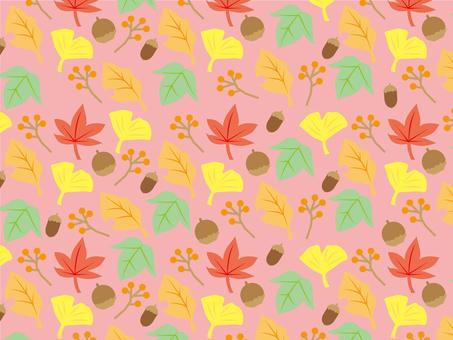 Autumn frame plant pattern