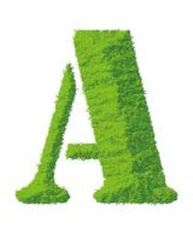 Grass Alphabet A