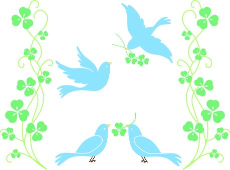 青い鳥とクローバー