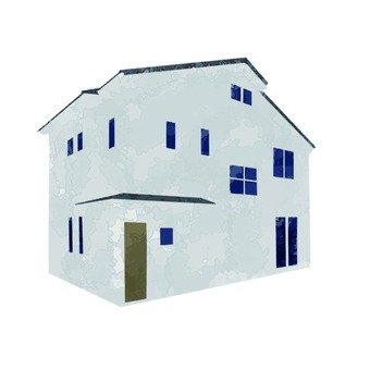 Hand-painted windows detached house