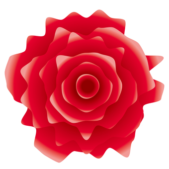 Jagged realistic red rose icon material