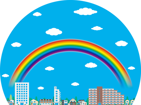 Rainbow Rainbow street skyline