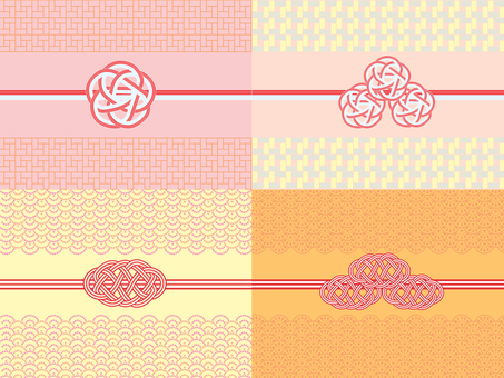 Decorative string _ Japanese pattern 2