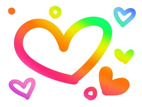 Rainbow Heart 【Big】 White