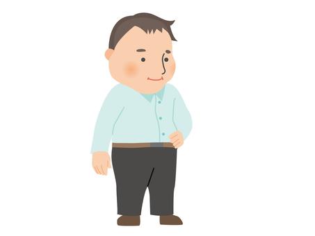 A fat man