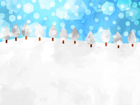 Sparkling snow wallpaper