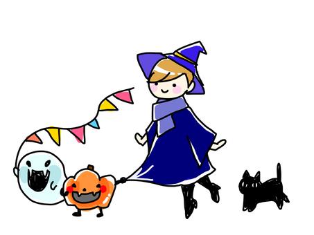 ハロウィン魔女