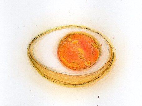 Smoked egg