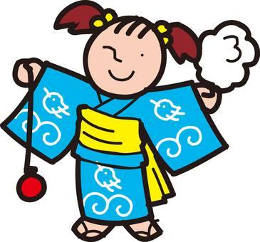 Yukata, lady, girl