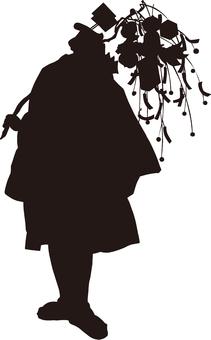 Ukiyo-e People Silhouette Part 26