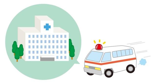 去救護車醫院