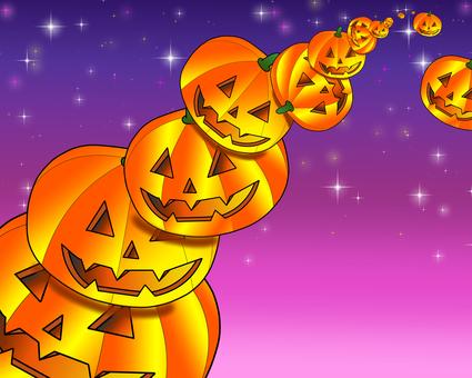 Halloween pumpkin tower