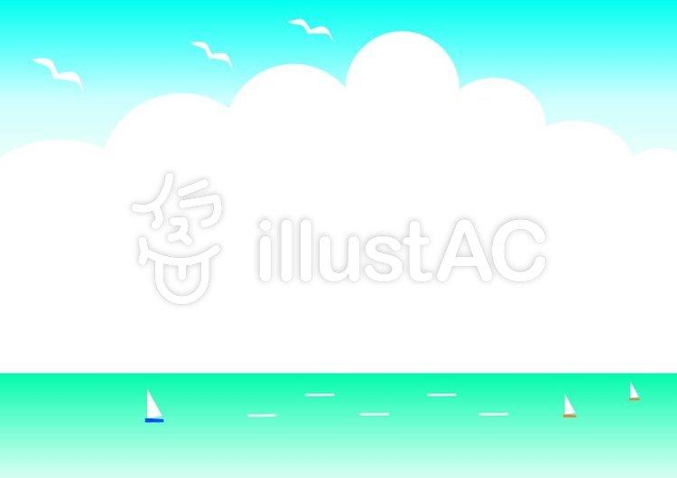 海のイラストメッセージカードイラスト No 776239無料イラストなら