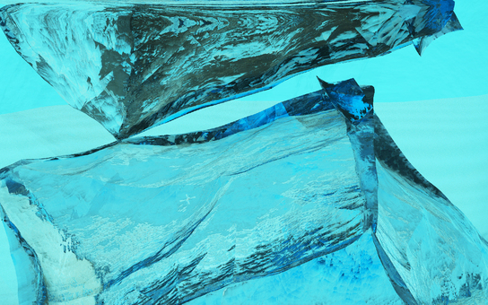 Enlarged illustration of ice and water 2-1
